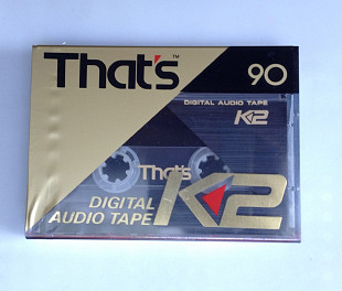 Кассета Digital Audio Tape That's K2 90 DAT